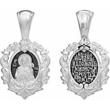 Нательная икона (образок) Тихвинской Божией Матери с молитвой (арт. 21211-12)