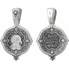 Подвеска иконка с образом Казанской Божьей Матери с молитвой (арт. 21211-14)