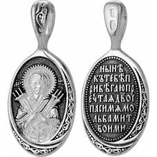 Нательная икона (образок) Семистрельная Божья Матерь (Умягчение злых сердец) (арт. 21211-16)