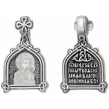 Нательная иконка Казанской Божьей Матери из серебра (арт. 21211-33)