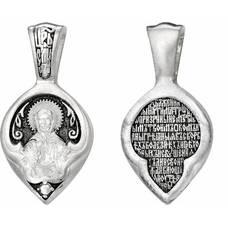 Подвеска иконка Матрона Московская с молитвой (арт. 21211-39)