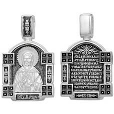 Подвеска иконка Матрона Московская с молитвой (арт. 21211-49)
