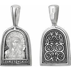 Нательная иконка образ Казанская Божья Матерь (арт. 21211-6)