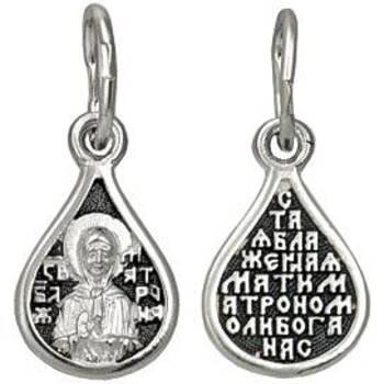 Подвеска иконка Матрона Московская с молитвой (арт. 21211-69)
