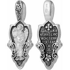 Кулон из серебра с образом Ангел Хранитель с молитвой (арт. 21211-9)