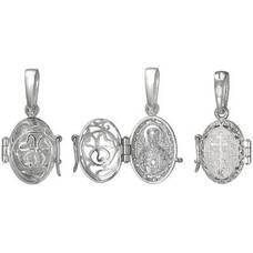 Ладанка серебряная икона Николай Чудотворец (арт. 21311-12)