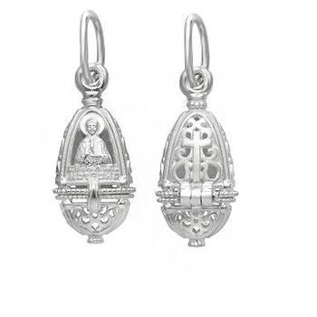 Ладанка серебряная икона Матрона Московская (арт. 21311-5)