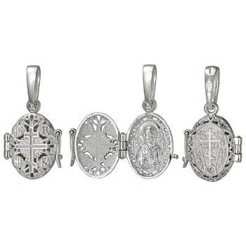 Ладанка серебряная икона Матрона Московская (арт. 21311-7)
