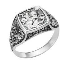 Кольцо мужское перстень Горгий Победоносец (арт. 11101-11)
