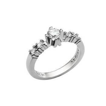 Женское кольцо Спаси и сохрани из серебра с фианитами (арт. 11101-14)
