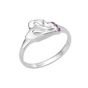 Серебряное кольцо цветы каллы с молитвой «Спаси и сохрани» (арт. 11101-19)