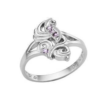 """Женское кольцо с молитвой """"Спаси и сохрани"""" из серебра с фианитами (арт. 11101-22)"""