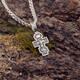 Маленький крест с молитвой «Спаси и сохрани» серебряный с чернением (арт. 21111-150)