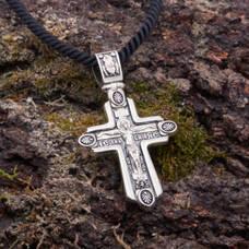 Крестик для мужчины: Распятие Иисуса христа с молитвой ко Кресту (арт. 21111-168)