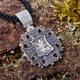Паломнический крест серебряный - Спас с мечом, Георгий Победоносец (арт. 21111-198)