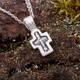 Нательный крест: Распятие Иисуса Христа, Николай Чудотворец (арт. 21111-215)