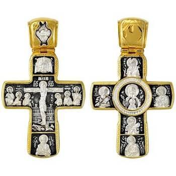 Купить серебряный крест «Распятие Иисуса Христа, Ангел Хранитель» (арт. 21112-179)
