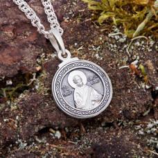 Иконка-образок апостол Симон Кананит из серебра с чернением (арт. 21211-24)
