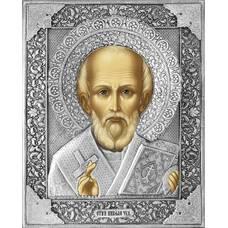 Икона Николай чудотворец Мирликийский в ризе (арт. 12240102)