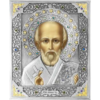 Икона Николай чудотворец Мирликийский в ризе (арт. 12240103)