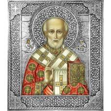 Икона Николай чудотворец Мирликийский в ризе (арт. 12240105)