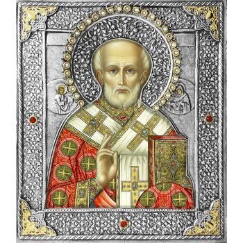 Икона Николай чудотворец Мирликийский в ризе (арт. 12240106)
