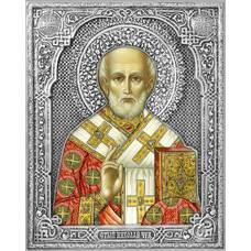 Икона Николай чудотворец Мирликийский в ризе (арт. 12240107)