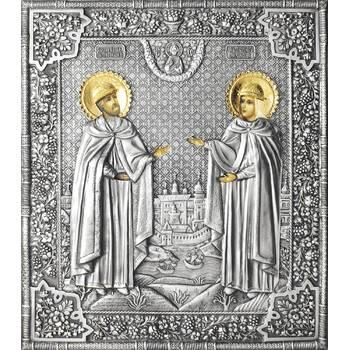 Икона Петр и Феврония в ризе (арт. 12240110)