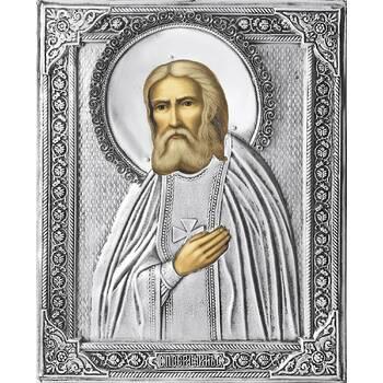 Икона Серафим Саровский в ризе (арт. 12240114)