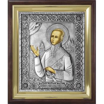 Икона Феодор Ушаков в ризе и деревянном киоте (арт. 12240118)