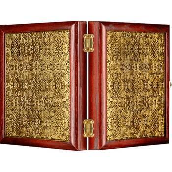 Икона венчальная пара (складень) - Спаситель, Казанская икона Божией Матери (арт. 12240129)