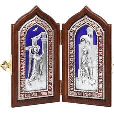 Икона (складень) Благовещение Пресвятой Богородицы в серебре с эмалью (арт. 12240151)