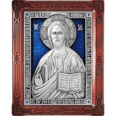 Икона Господь Вседержитель в серебре и деревянной рамке (арт. 12240164)