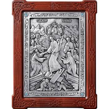 Икона Воскресение Христово в серебре и деревянной рамке (арт. 12240167)