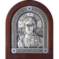 Икона Господь Вседержитель в серебре и деревянной рамке (арт. 12240175)