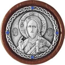 Икона в машину Господь Вседержитель в серебре 12240179