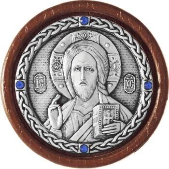Икона в машину Господь Вседержитель в серебре (арт. 12240179)