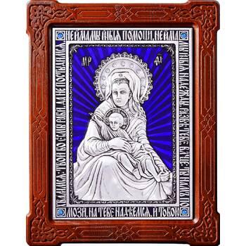 Икона Божией Матери Милостивая (Зачатьевский монастырь Москва) в серебре с эмалью (арт. 12240197)