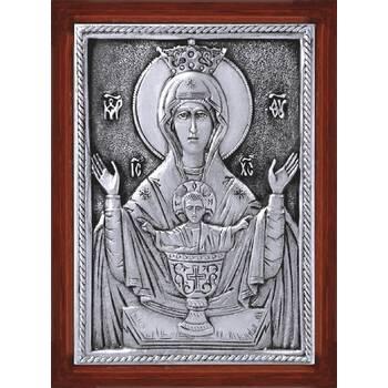 Икона Божией Матери Неупиваемая Чаша в серебре и деревянной рамке (арт. 12240216)