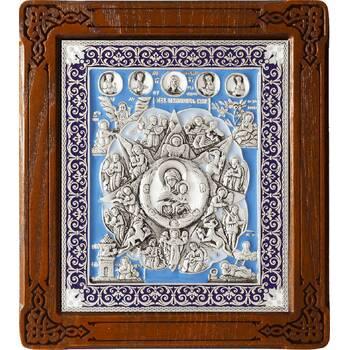 Неопалимая Купина икона Божией Матери в серебре и эмали (арт. 12240219)