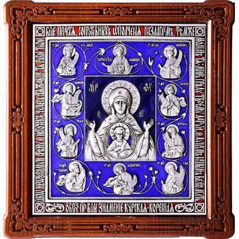 Курская коренная икона Божией Матери (Знамение) в серебре и эмалью (арт. 12240228)