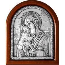 Донская икона Божией Матери в серебре и деревянной рамке (арт. 12240233)