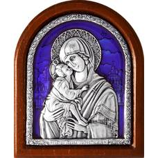 Донская икона Божией Матери в серебре с эмалью (арт. 12240234)
