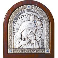 Корсунская икона Божией Матери в серебре и деревянной рамке (арт. 12240235)