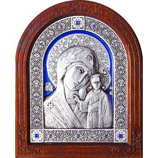 Казанская икона Божией Матери в серебре и эмалью (арт. 12240238)