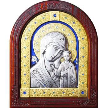 Казанская икона Божией Матери в серебре с позолотой и эмалью (арт. 12240240)