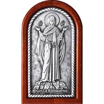 Икона Божией Матери Нерушимая Стена в серебре и деревянной рамки (арт. 12240243)