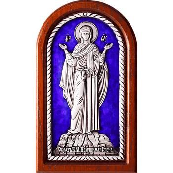 Икона Божией Матери Нерушимая Стена в серебре с эмалью (арт. 12240244)