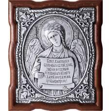 Икона Ангела Хранителя в серебре и в деревянной рамке (арт. 12240260)