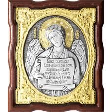 Икона Ангела Хранителя в серебре с позолотой и эмалью (арт. 12240262)